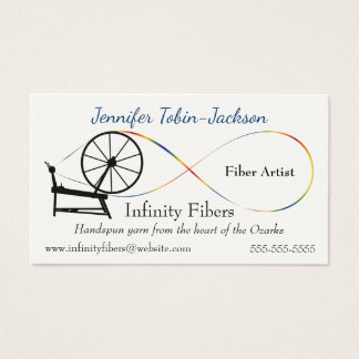 Infinity Design Spinning Wheel Business Card
