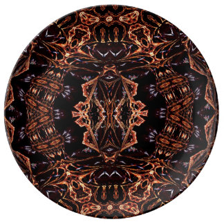 Infinity Flames Fractal  Decorative  Plate