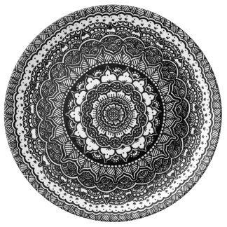 Infinity Flower Porcelain Plate