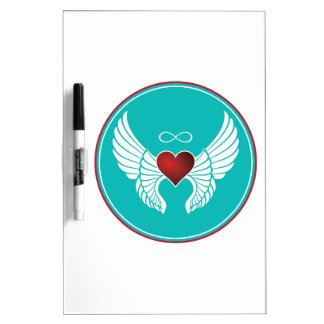 Infinity Flying Heart Dry Erase Board