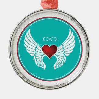 Infinity Flying Heart Metal Ornament