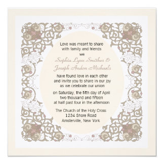 Infinity Frame Wedding Invitation
