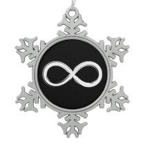 Infinity | Geek Gifts Snowflake Pewter Christmas Ornament
