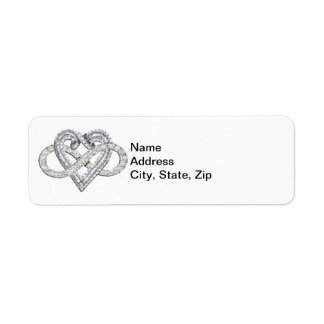Infinity Heart Address Labels