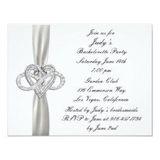 Infinity Heart Bachelorette Party Invitation