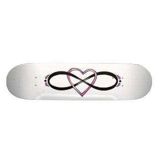 Infinity Heart Design Skateboard Deck