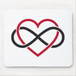 Infinity heart, never ending love mouse pad