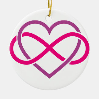 Infinity heart, never ending love christmas tree ornament