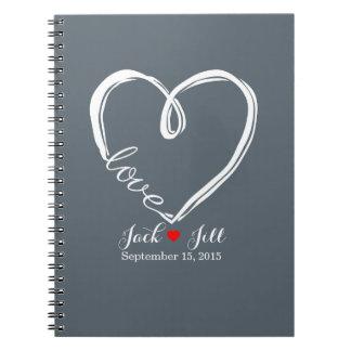 infinity heart wedding guest book planner notebook