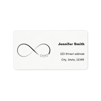 Infinity hearts symbol label