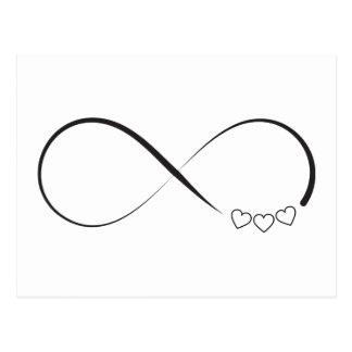 infinity heart postcards zazzle