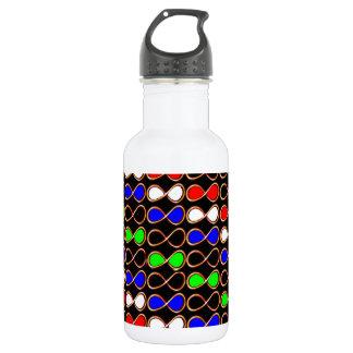 INFINITY Infinite Number Graphic Art Golden Water Bottle
