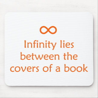 Infinity Lies Between The Covers Of A Book Mouse Pad