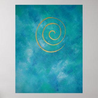 Infinity Light Blue Philip Bowman Decorative Art Posters