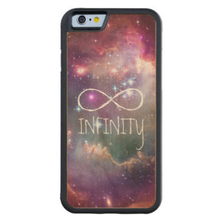 Infinity loop and galaxy space hipster background carved maple iPhone 6 bumper case