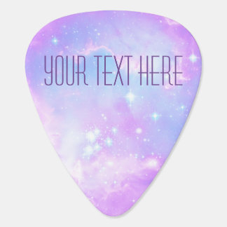 Infinity loop and galaxy space hipster custom guitar pick