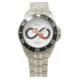 Infinity Love Heart Couples Watch  Customize It!