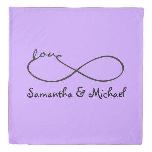 Love symbol duvet covers bedspreads zazzle infinity love lemniscate black your backgr duvet cover altavistaventures Images