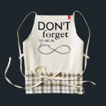 """Infinity Love Lemniscate black   your backgr. Zazzle HEART Apron<br><div class=""""desc"""">Spirit Symbol Design by EDDA Fr&#246;hlich / EDDArt 