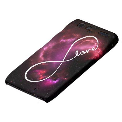 infinity love - pink nebula droid RAZR cover