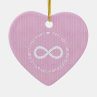 Infinity Love Pink Stripe Ornament