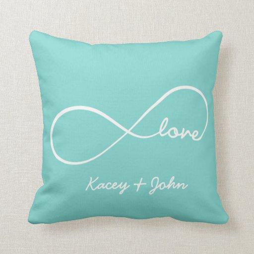 Throw Pillow Love : Infinity Love Throw Pillow Zazzle