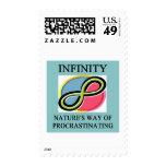 INFINITY math joke Postage Stamps