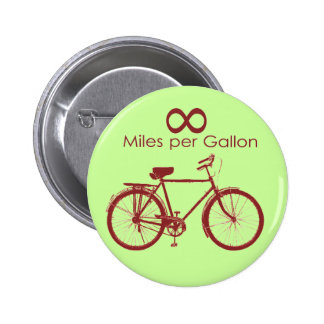 Infinity Miles Per Gallon Bike Button