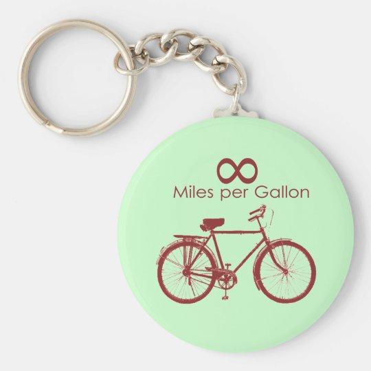 Infinity Miles Per Gallon Bike Keychain