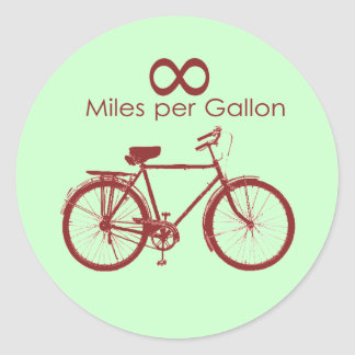 Infinity Miles Per Gallon Bike Sticker