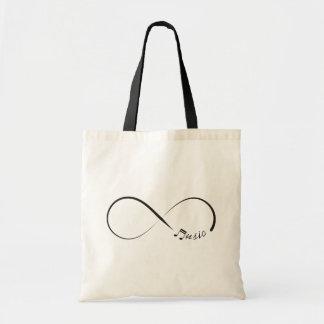 Infinity music symbol tote bag