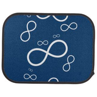 Infinity on Dark Blue Car Mat