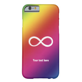 Infinity on rainbow background | Girly Case Barely There iPhone 6 Case