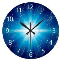 Infinity Pattern Geek Blue Wall Clock