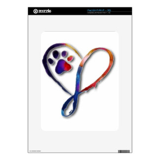 Infinity Paw Decals For iPad