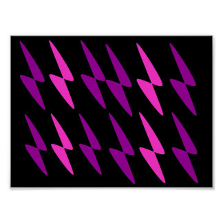 Infinity Purple and Pink Abstract Art Print