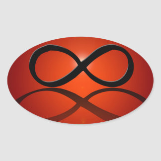 Infinity reflected, oval sticker