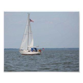 Infinity Sailboat Sailing Lake Michigan Photo Print