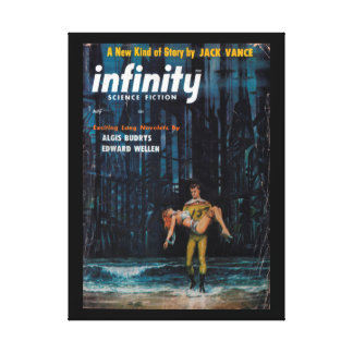 Infinity Science Fiction - 1957.07_Pulp Art Canvas Print