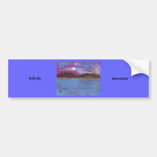 Infinity (seascape) car bumper sticker