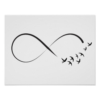 Infinity swallow symbol poster