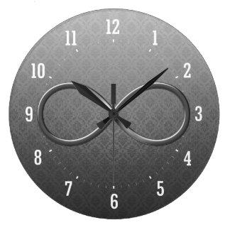 Infinity Symbol Damask background Wall Clock