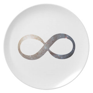 Infinity Symbol Dinner Plate