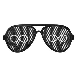 Infinity Symbol Aviator Sunglasses