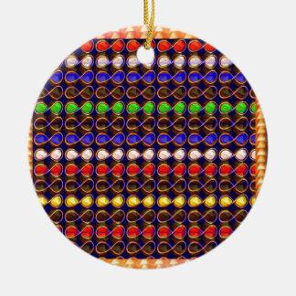 INFINITY Symbol n Gold Sparkle Jewel ART GraphicS Christmas Tree Ornaments