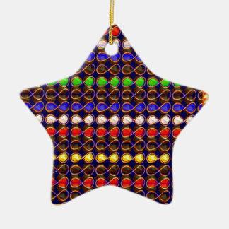 INFINITY Symbol n Gold Sparkle Jewel ART GraphicS Christmas Tree Ornament