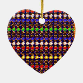 INFINITY Symbol n Gold Sparkle Jewel ART GraphicS Christmas Ornament