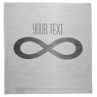 Infinity Symbol On Brushed Metal Texture Cloth Napkin
