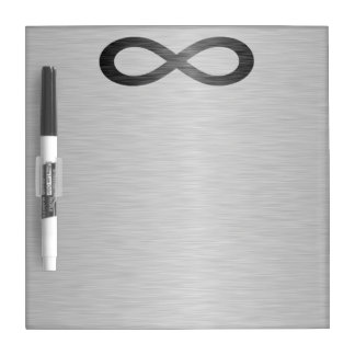Infinity Symbol On Brushed Metal Texture Dry Erase Board