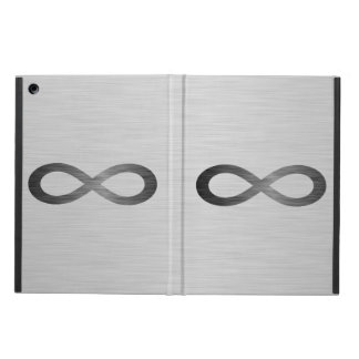 Infinity Symbol On Brushed Metal Texture iPad Air Covers